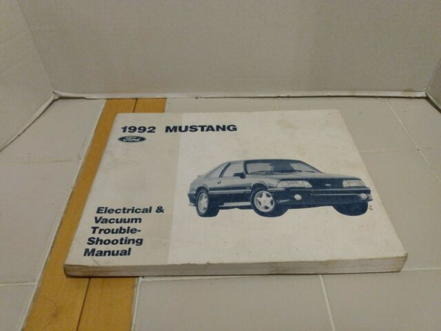 1992 Ford Mustang Electrical Wiring  U0026 Vacuum Diagram