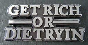 Get-Rich-Or-Die-Trying-Belt-Buckle-Funny-Money-Metal-Boucle-de-Ceinture