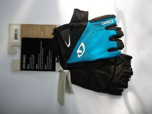 New Giro Bravo Gel Blue//Black Half Fingers Cycling Gloves Size XL