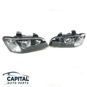 Pair of Black Headlights for Holden Commodore VE  Berlina/Omega/SS/SV6 2006-2010