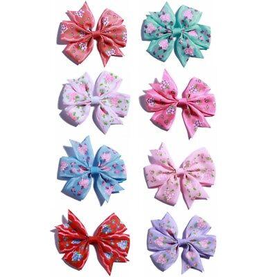 120pcs//lot 8cm Grosgrain Ribbon Flower Hair Bows For Headbands NO CLIPS