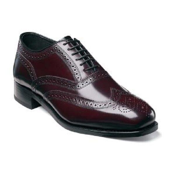 Zapatos de Cuero para Hombre Florsheim Lexington punta del ala Borgoña 17066-05