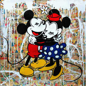 Mr brainwash oil painting on canvas banksy urban art decor for Mural painted by street artist mr brainwash