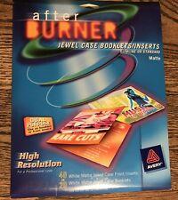 Sealed Avery After Burner Jewel Case Cd Insertsbooklets Matte Color Ink Jet