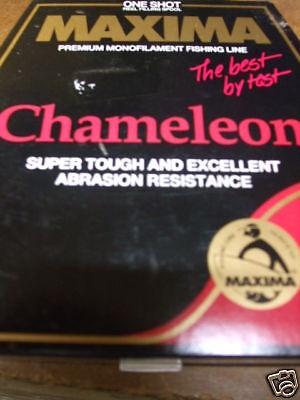 Instancabile Maxima Chameleon 660yds / 600 Metro 18lb Brown In Color Salmone Anglers Finestre Mobili C!!- Volume Grande