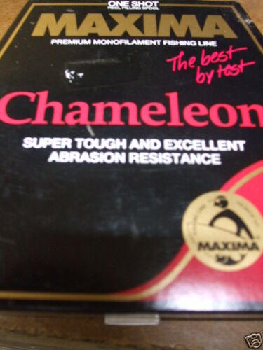 MAXIMA CHAMELEON 660YDS//600 METRE  18LB BROWN IN COLOR  salmon anglers flyin c!!