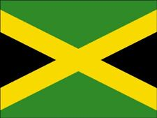 A4 JAMAICA / JAMAICAN NATIONAL FLAG CAKE TOPPER DECORATIONS ON EDIBLE RICE PAPER