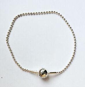 5b096f5bd Image is loading Genuine-PANDORA-Essence-Silver-Ball-Chain-Bracelet-596002-