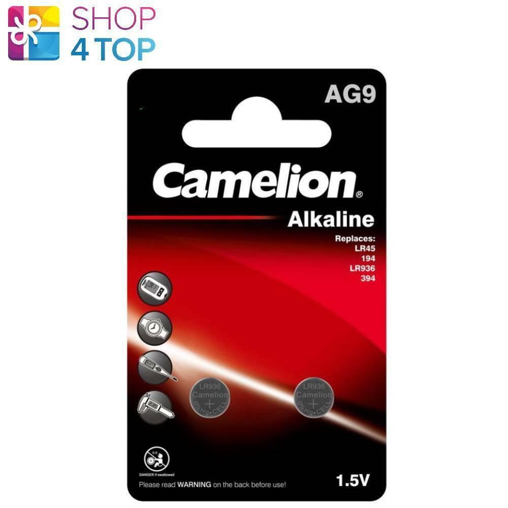 2 Camelion LR936 Alkaline Batteries LR45 394 No mercury 1.5V 2BL EXP 2025 NEW