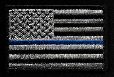 Blue Line Law Enforcement Embroidered Patch F1D7R