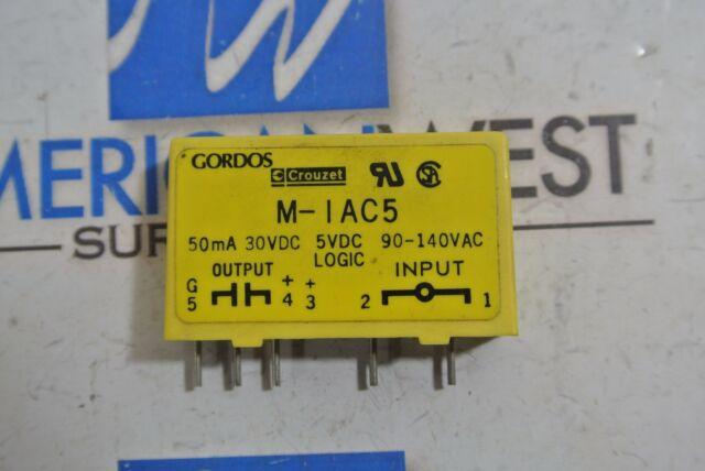 Crouzet Gordos IAC5Q 84112110 I//O Module 50mA 30 VDC Out 90-140 VAC In
