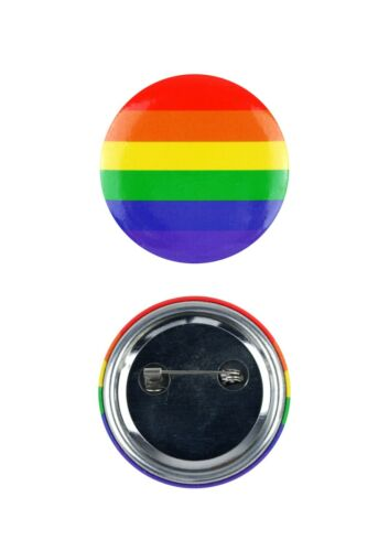 Gay Pride Badge 4 Cm Rainbow Colored Pin Button LGBT Dress Fancy Party Accessory