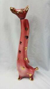 Vintage-Antique-Mid-Century-Modern-Ceramic-Giraffe-Figurine-Liquor-Decanter