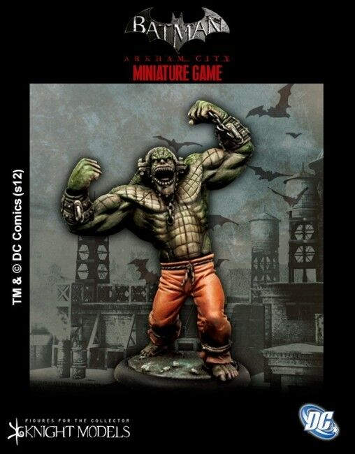Killer Croc 35mm Batman miniature Jeu Knight Models Skirmish dessus de table DC