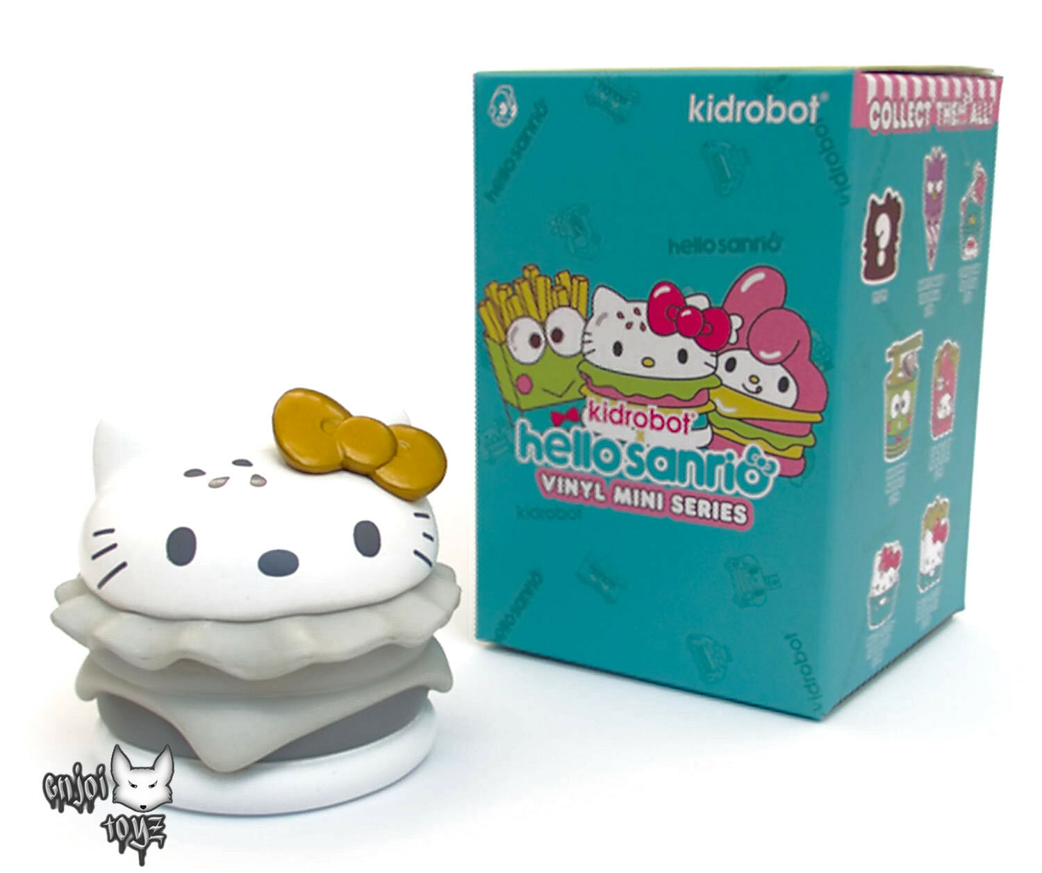 Hello Kitty Burger (gold) - Hello Sanrio Mini Series x Kidrobot - 3  Figure New
