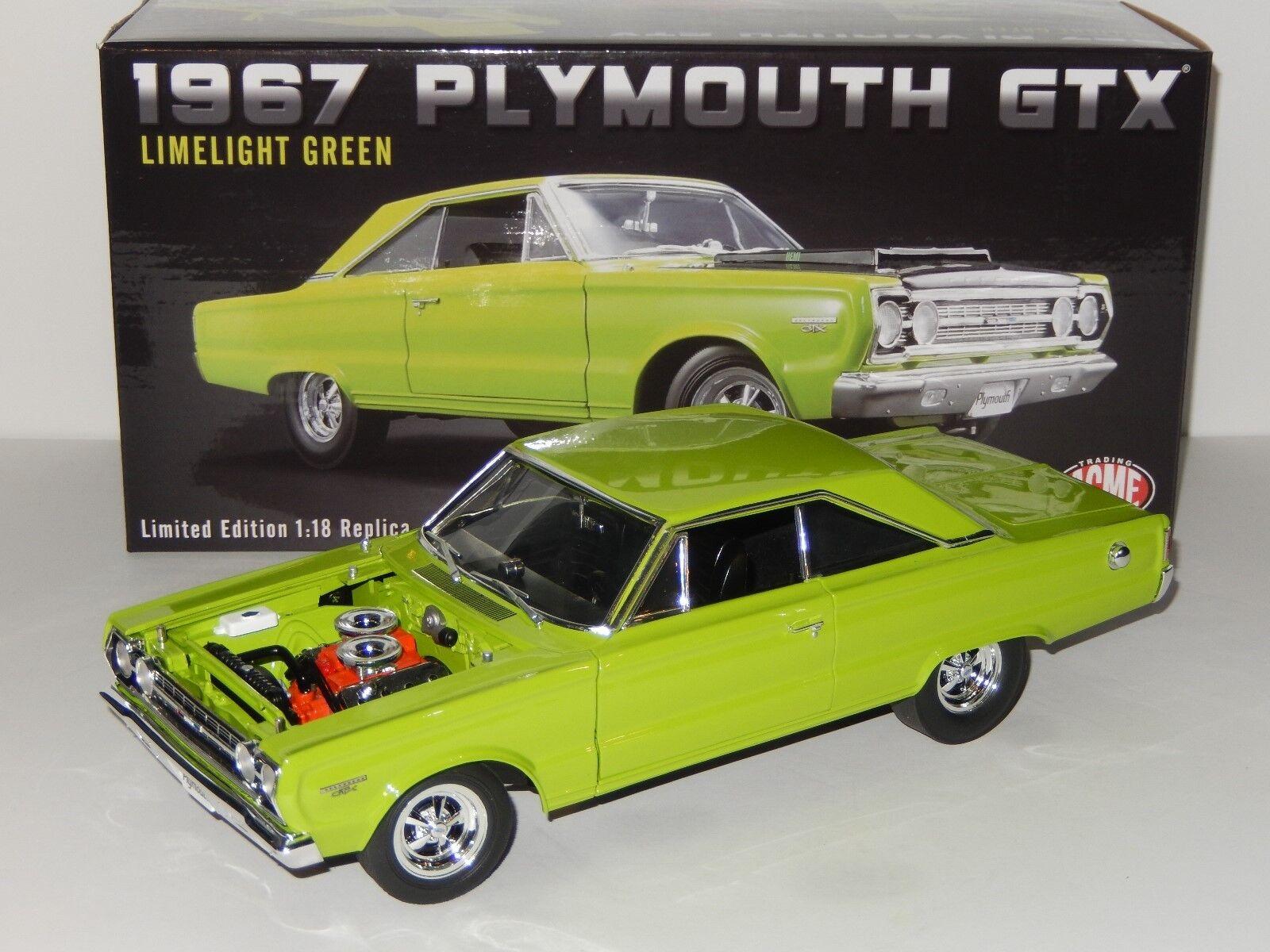 Escala 1 18 GMP Acme 1967 Plymouth Gtx, artículo A1806703, linelight verde