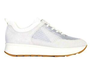 Geox-GENDRY-D925TB-022QU-Silver-Sneakers-Scarpe-Donna-Calzature-Casual