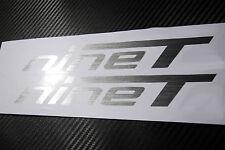 Aufkleber für BMW R9T nineT Tank Verkleidung / Alu-gebürstet