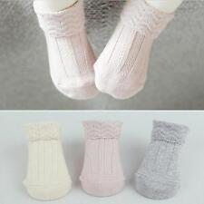 Home Indoor Newborn Baby Kids Children Infant Solid Anti-slip Cotton Socks S