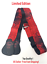 RED Hard Rock Guitar Company Adjustable Guitar Strap With Leather Ends Limited