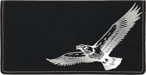Soaring Eagle Laser Engraved Leather Checkbook Cover