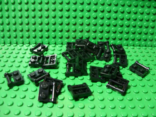 ** 25 CT LOT **  Lego NEW black 1 x 2 modified plate W// side handle