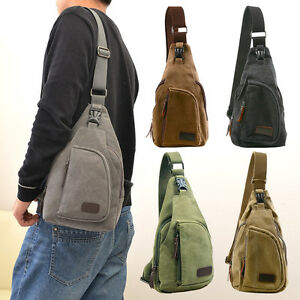 Mens Military Vintage Canvas Rucksack Satchel Shoulder Bag ...