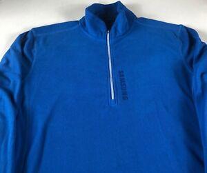 Samsung-Fleece-Jacket-Mens-Large-1-4-Zip-Long-Sleeve-Pullover-Employee-Phone