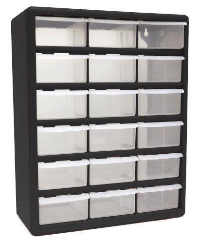 HOMAK 18-Drawer Plastic Parts Bin Organizer Storage Drawers