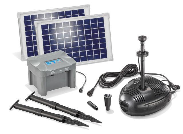 Pompa da Stagno Solare Con Batteria 20W Giardino esotec 101724