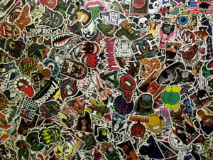 500 Random Skateboard Stickers Bomb Laptop Luggage Decals Dope New