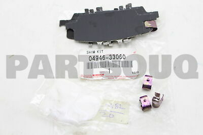 One New Genuine Disc Brake Pad Shim Rear 0494630100 for Lexus Toyota