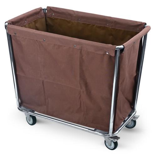 Wäschewagen aus CNS mit braunem Polyester-WäschesackAbm. 95 x 58 x 84 cm