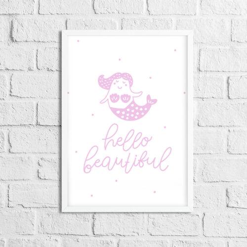 Children/'s Pictures Wall Art Bedroom Decor Girls Nursery Prints Baby Pink