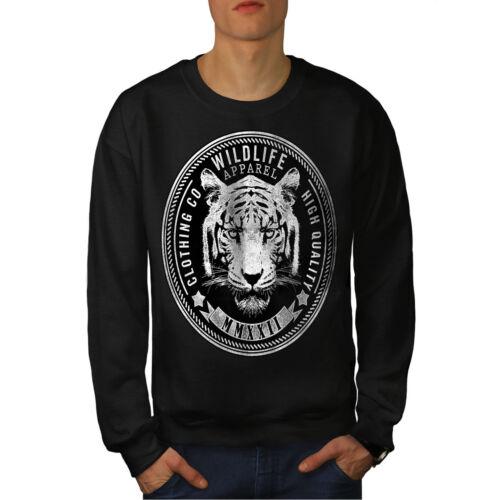 Sweat Vintage Noir Nouveau hommes Tiger Vintage hrsdxtQC
