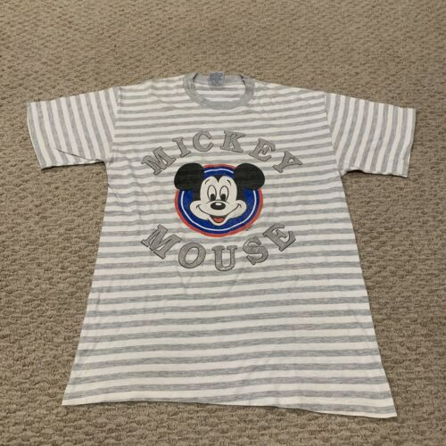 VTG Mickey Mouse Striped Ringer T Shirt Cal Cru Te