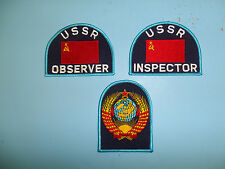 b6637 Soviet USSR Inspector Observer sleeve patches Nato visits 3 piece
