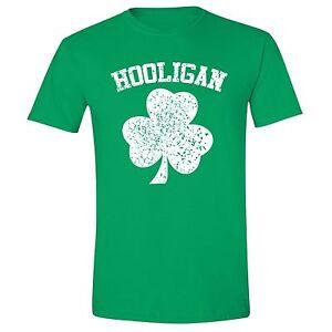 d6f3ce445 Men's St. Patrick's Day Shamrock Clover Irish Beer Hooligan Unisex T ...