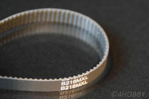 Zahnriemen 216 Zähne B216MXL 2mm-Teilung Zahnräder Modellbau RC Synchronriemen