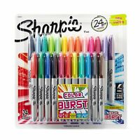 Sharpie Color Burst Permanent Markers, Fine Point, Assorted Colors, 24-count, Ne on sale