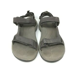 TEVA-Men-039-s-Holliway-Leather-Sandal-Open-Toe-Olive-Brown-Size-9-US