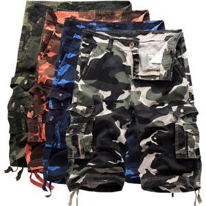 Pants Summer Shorts Hot Beach Men's Casual Cotton Loose Pocket Cargo Camouflage cqSUIz
