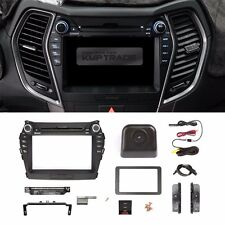 "7"" GPS Dash Fascia Audio Integral Camera Trim Button for HYUNDAI 13-16 Santa fe"