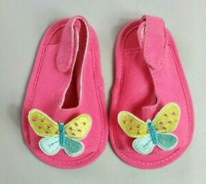 BABY GIRLS WHITE /& SILVER HOLOGRAM BUTTERFLY SANDALS 0-3 MONTHS