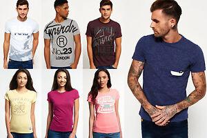 Neues-Superdry-fuer-Maenner-und-Frauen-T-shirts-Versch-Modelle-und-Farben