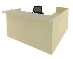 Cherryman Amber L-Shape Office Reception Desk w/ One pedestal of Drawers