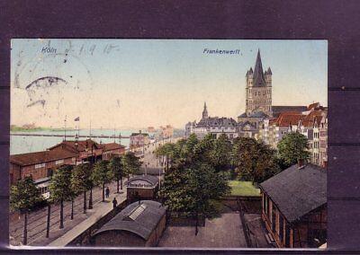 Ordentlich Gelaufene Ansichtskarte Köln frankenwerft- europa:11344