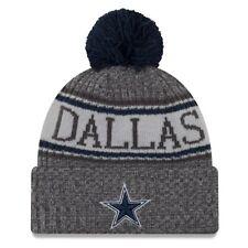 39271d17dda good dallas cowboys era knit hat graphite 2018 sideline beanie stocking cap  8581d fe6a2