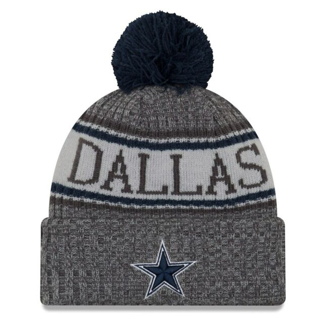 a6a08dfa Dallas Cowboys Era Knit Hat Graphite 2018 Sideline Beanie Stocking Cap