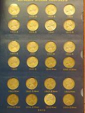 Jefferson Nickel Set in Album Complete 1938-1964 All Choice-Gem BU *
